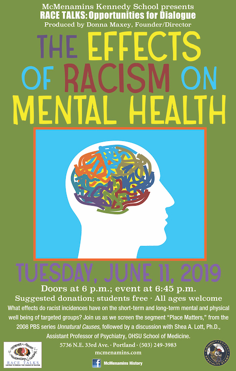 race talks racism mental health poster